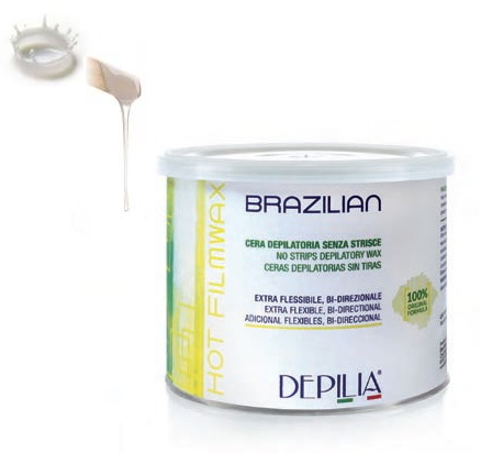 Безболезнена натурална Бразилска кола маска Depilia, супер пластична, 500 мл