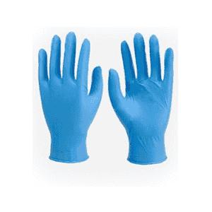 Ръкавици нитрил сини без пудра М 100 броя